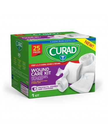 CURAD WOUND CARE KIT ASSORTED 25CT