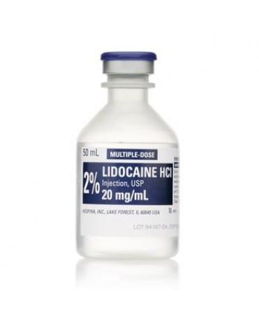 LIDOCAINE HCI 2% INJ MDV 25X50ML