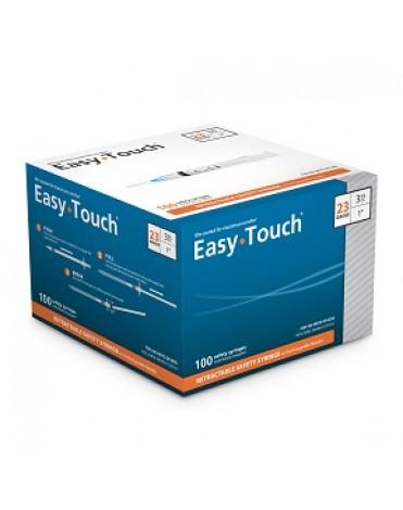 "EASYTOUCH MANUAL RETRACTABLE SAFETY SYRINGE W/EXCHANGABLE NEEDLE, 3ML, 23G, 1"" (25MM) NEEDLE"