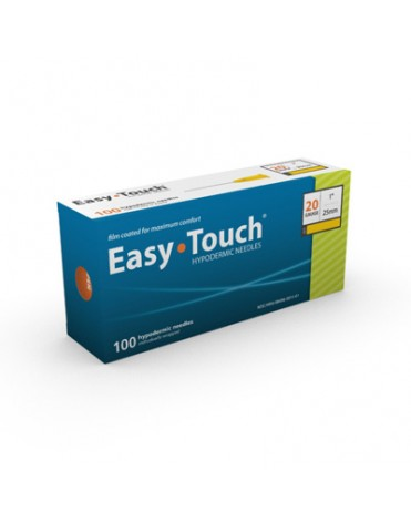 "EASYTOUCH HYPODERMIC NEEDLE 20G, 1"" (25MM) 100CT"