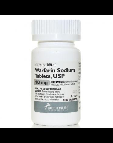 WARFARIN SODIUM 10MG (COUMADIN) TABS 100CT