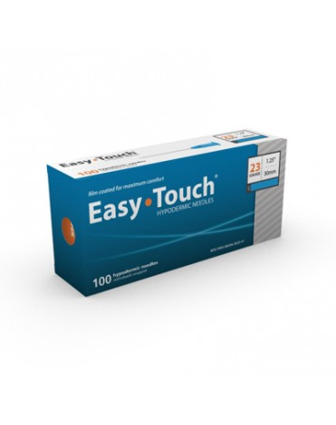 """EASYTOUCH HYPODERMIC NEEDLE 23G, 1.25"""" (30MM) 100CT"""