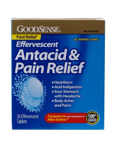 ANTACID PAIN RELIEF EFFERVESCENT (ALKA-SELTZER) TABS 36CT