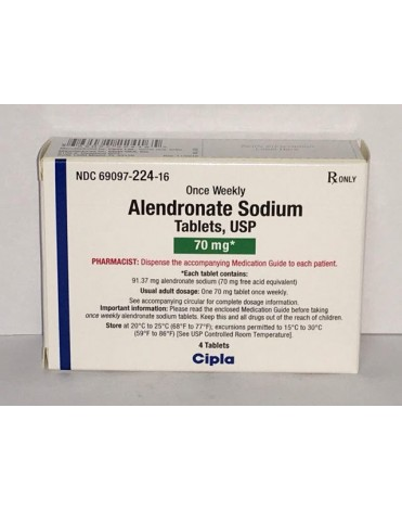ALENDRONATE SODIUM 70MG (FOSAMAX) TABS 4CT