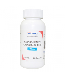 CEPHALEXIN 500MG (KEFLEX) CAPS 100CT