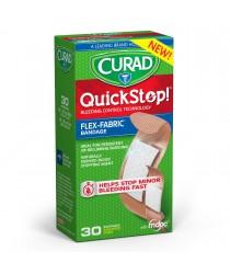 CURAD QUICKSTOP BANDAGE FLEX-FABRIC ASST PACK, 30CT