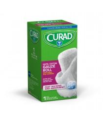 """CURAD 100% COTTON GAUZE ROLL 4.5""""X4YD 1CT"""