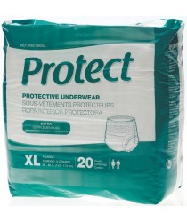 """PROTECT EXTRA PROTECTIVE UNDERWEAR XL 56""""-68""""  80CT"""